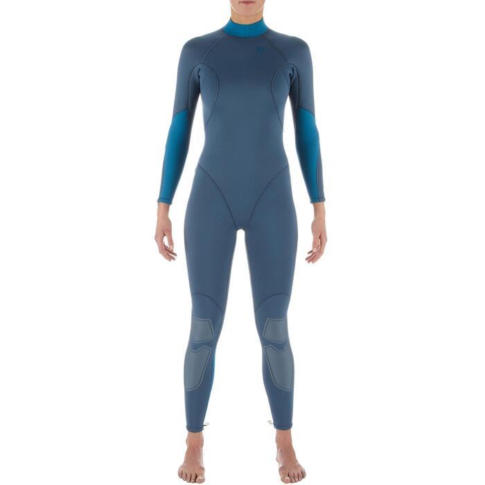 Combinaison de plongée sous-marine SCD 100 néoprène 3mm femme fermeture dorsale