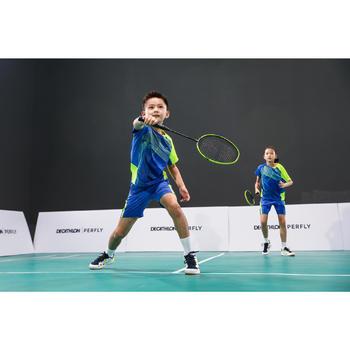 Short de badminton Junior 560 - Bleu/Jaune