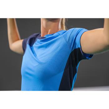 T-Shirt de badminton Femme 530 Bleu Marine
