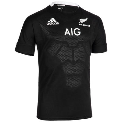 Maillot de rugby replica All Blacks domicile adulte noire 2019