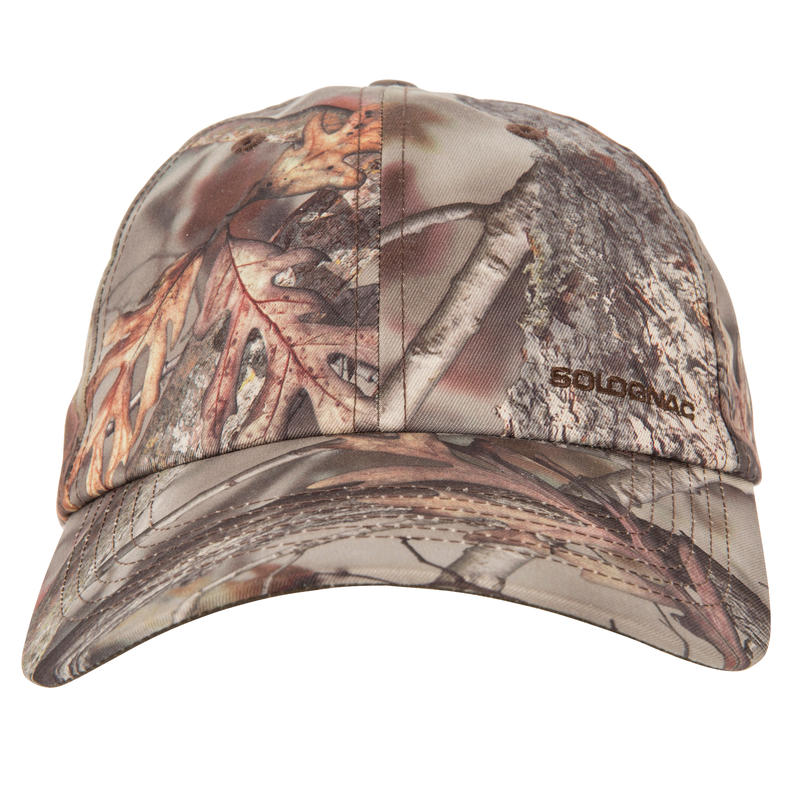 Wild Discovery Cap 100 - Woodland Camouflage