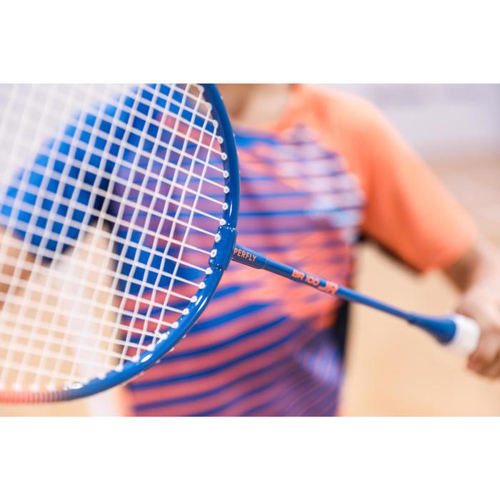 Badmintonracket voor kinderen BR 100 blauw/oranje