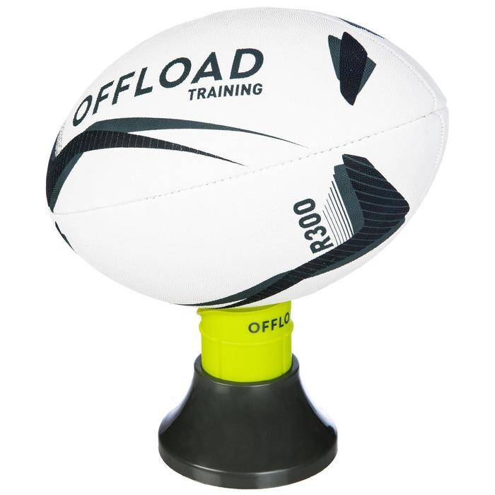 Tee Rugby Offload ajustable R500 caqui y amarillo