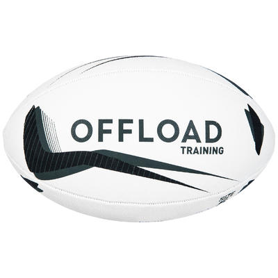 R300 Size 5 Rugby Ball - Black