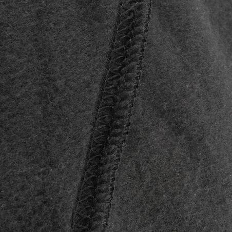 Pieaugušo slēpošanas flīsa balaklava, melna