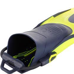 Open hiel duikvinnen met elastisch bandje SCD 500 OH blauw/fluogeel
