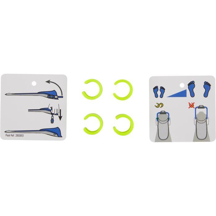 可調式水肺蛙鞋(附彈性帶)SCD 500 OH-藍色/螢光黃
