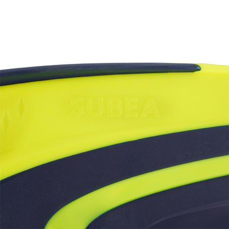 Adjustable scuba fins with elastic strap SCD 500 OH blue / neon