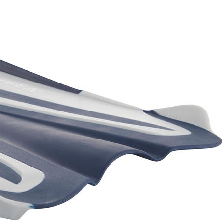 Scuba Diving Adjustable Fins with Elastic Strap SCD 500 OH - Blue/Grey