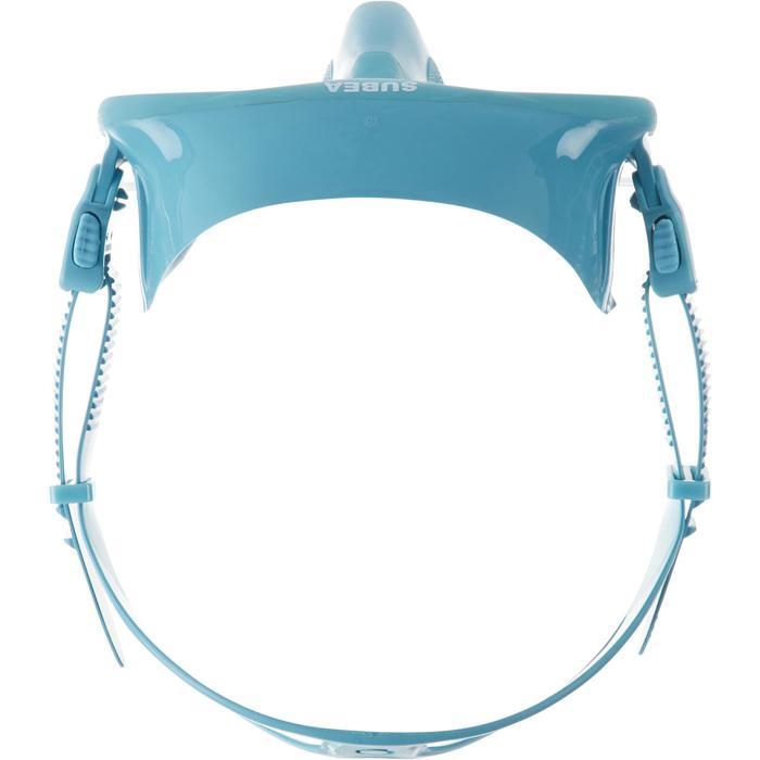 Compacte duikbril voor vrijduiken FRD 520 ijsblauw