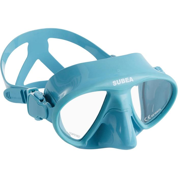 Tauchmaske Freediving FRD 520 kleines Volumen blau