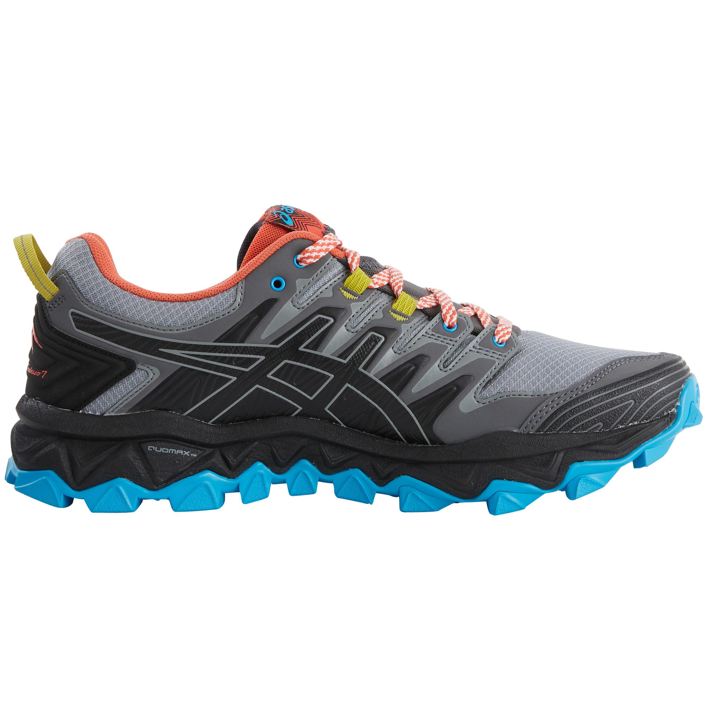 Asics Trailschoenen voor heren Asics Gel Fujitrabuco 7 grijs/blauw