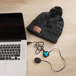 Skimütze Bluetooth Erwachsene schwarz