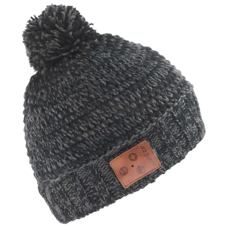 ADULT SKI AND SNOWBOARD HEADWEAR - BLUETOOTH HAT - BLACK WEDZE