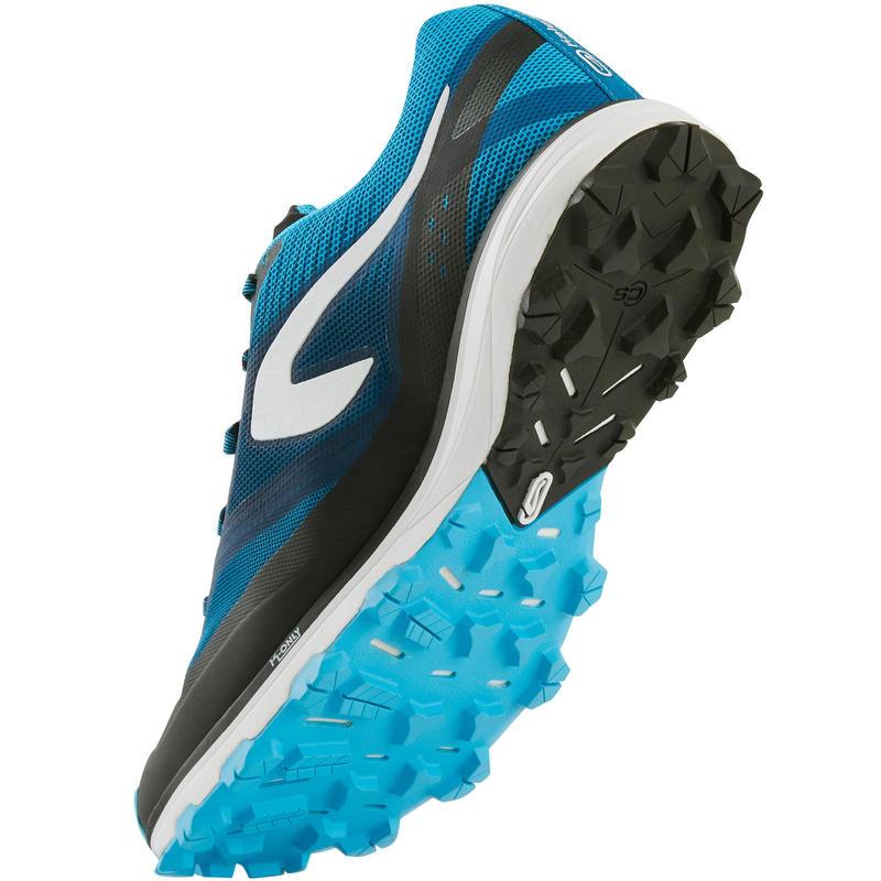 รองเท้าวิ่งเทรลสำหรับผู้ชายรุ่น Kiprun Race 4 (สีขาว/น้ำเงิน)