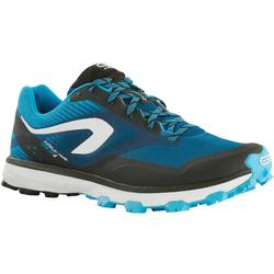 Laufschuhe Trail Kiprun Race 4 Herren blau/weiß