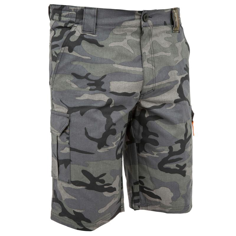 well known detailed pictures wide varieties Men's Bermuda Shorts 500 Camo Black