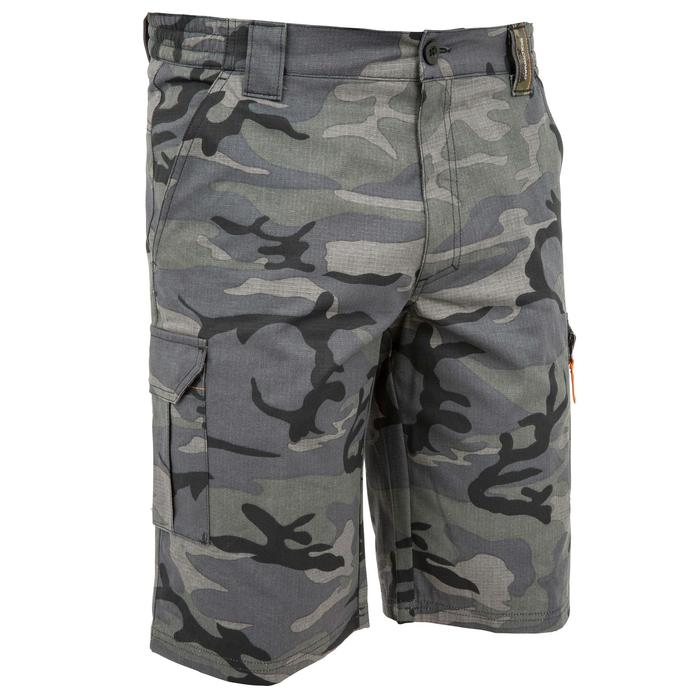 500 woodland camouflage Bermuda hunting shorts, black