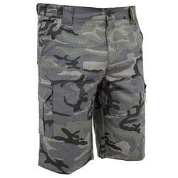 百慕達狩獵短褲500林地迷彩黑色
