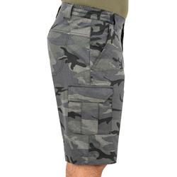 Jagersbermuda 500 woodland camouflage zwart