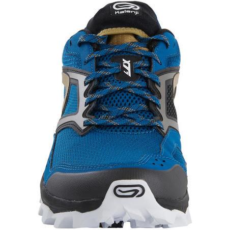 XT7 sepatu lari gunung pria hitam dan bronze