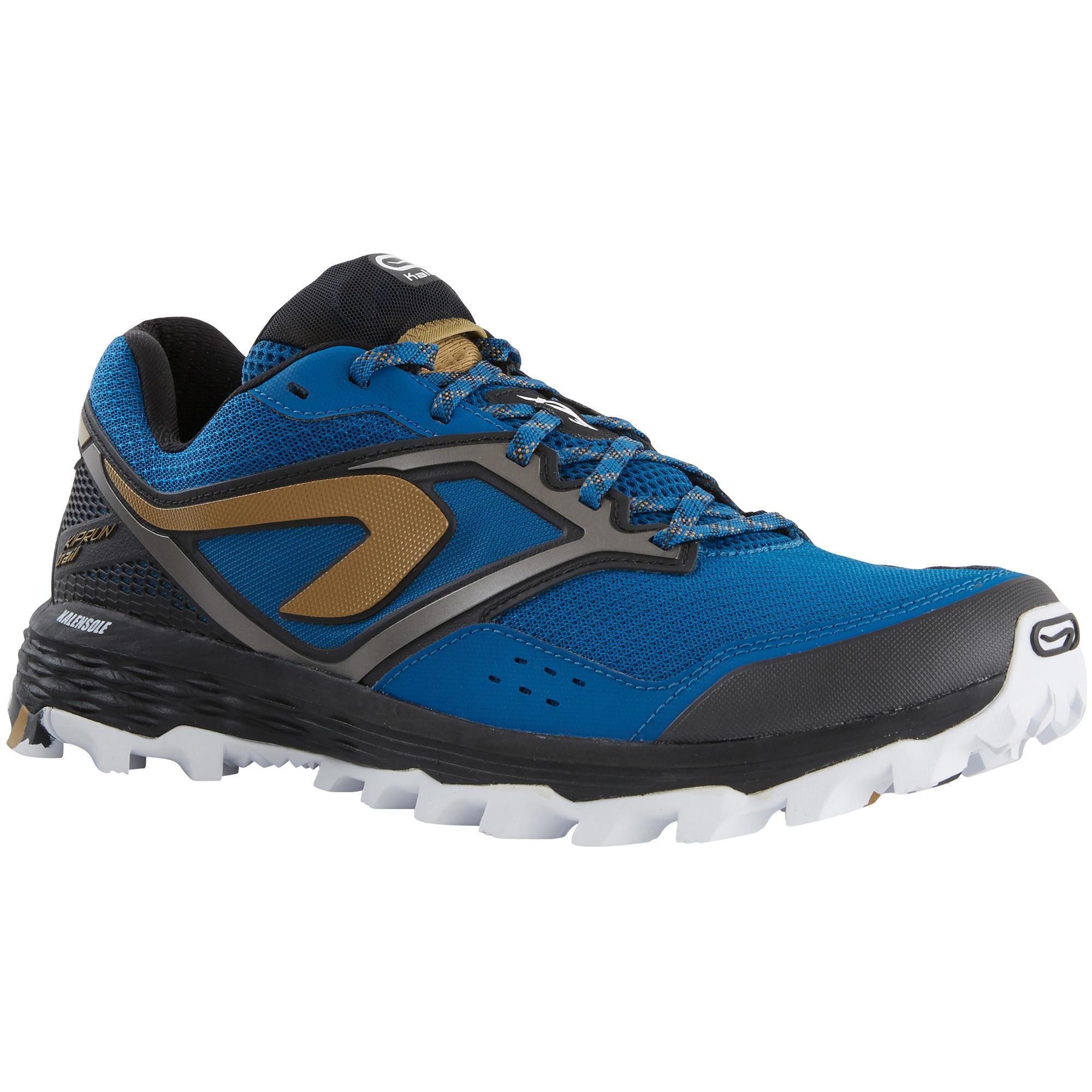 Laufschuhe Trail Kiprun XT7 Herren blau/bronzefarben