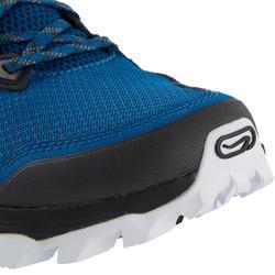 男款越野跑鞋XT7藍色與古銅色