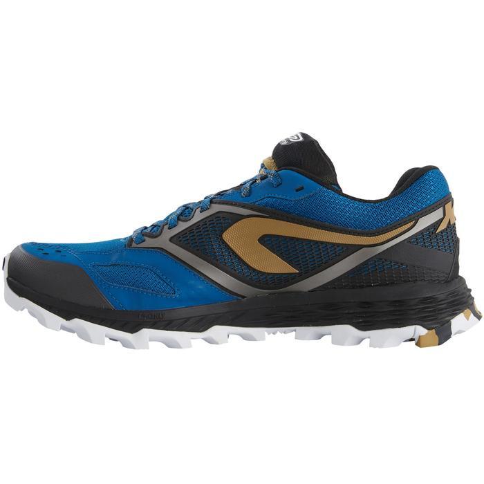 Chaussure de trail homme XT7 bleue et bronze
