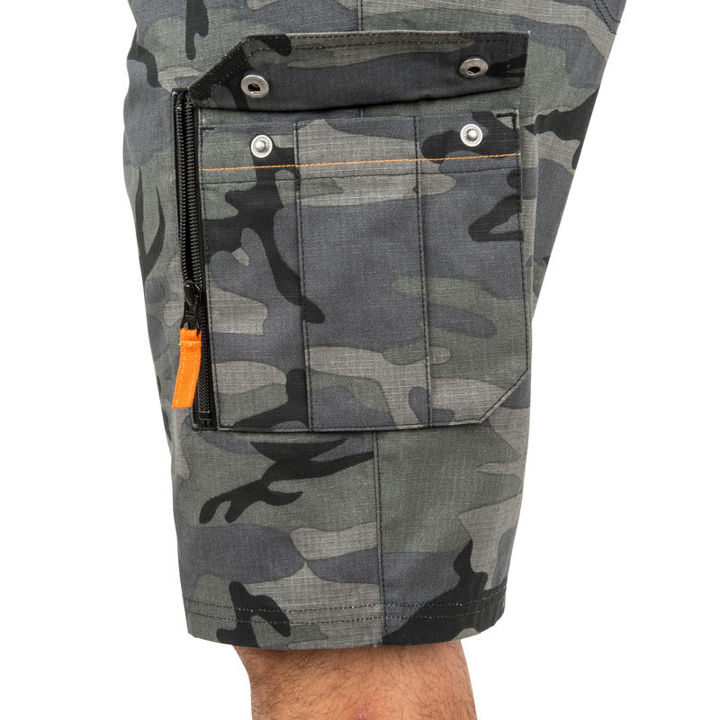 Men's Bermuda Shorts 500 Camo Black