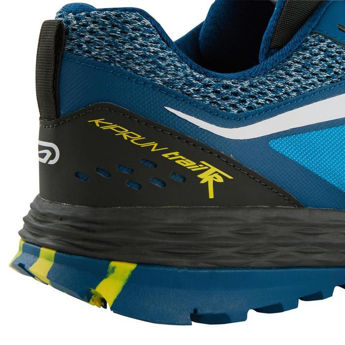 Laufschuhe Trail Kiprun TR Herren blau/gelb