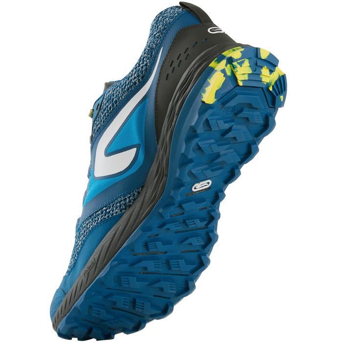Chaussures de trail running pour homme TR bleues et jaunes