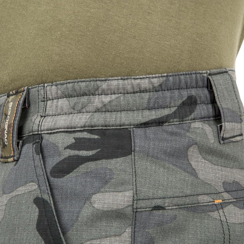 กางเกงขาสั้นเหนือเข่ารุ่น 500 (สีดำลายพราง)