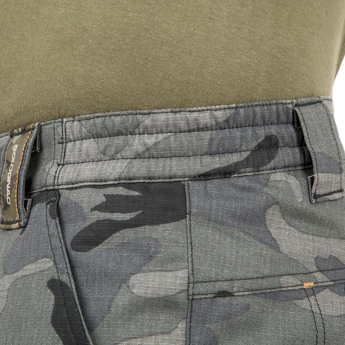 百慕達狩獵短褲500林地迷彩-黑色