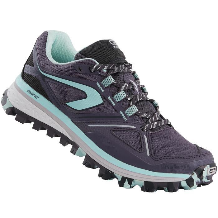 Laufschuhe Trail Kiprun MT Damen violett/blau
