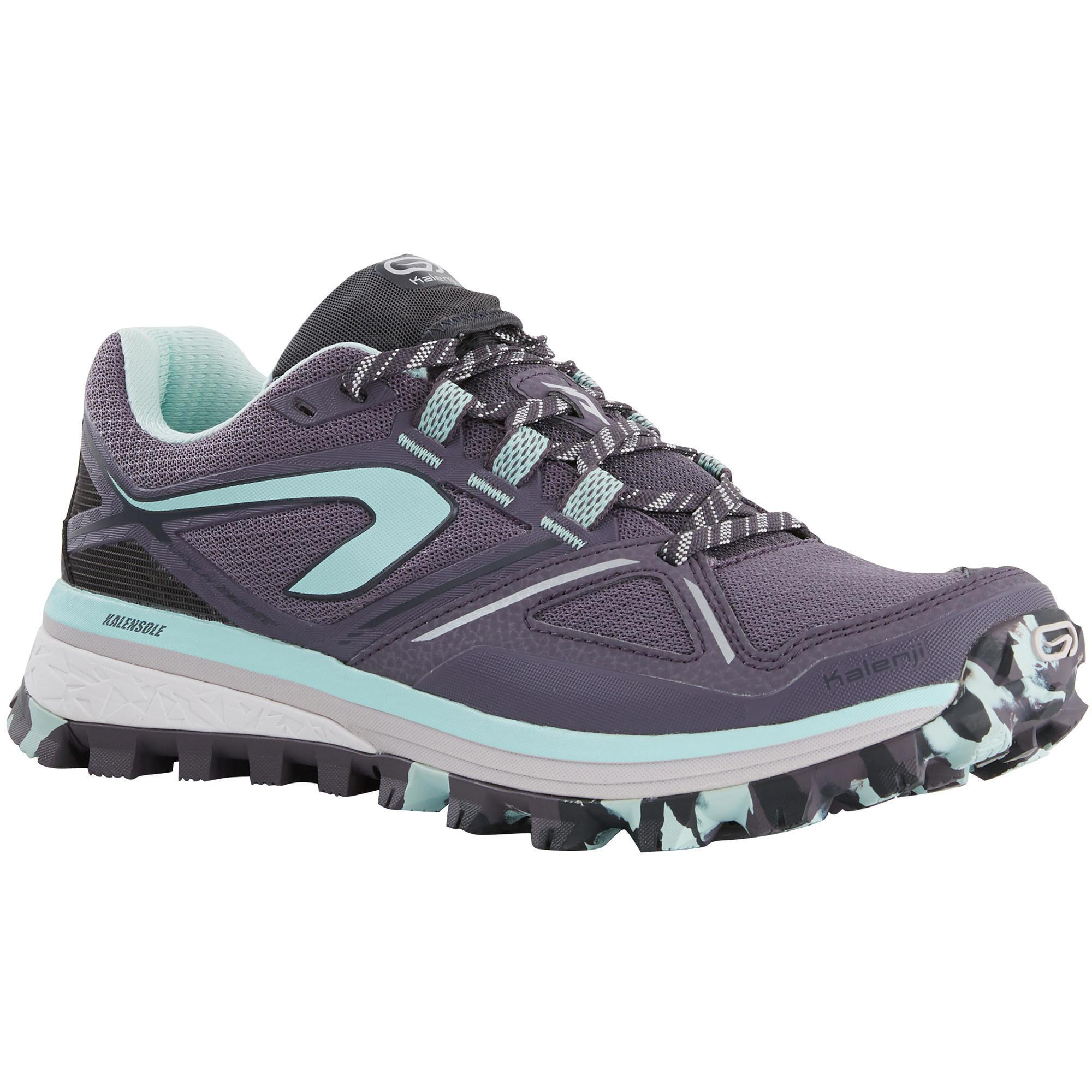 Kalenji Trailschoenen voor dames Kiprun Trail MT paars/blauw