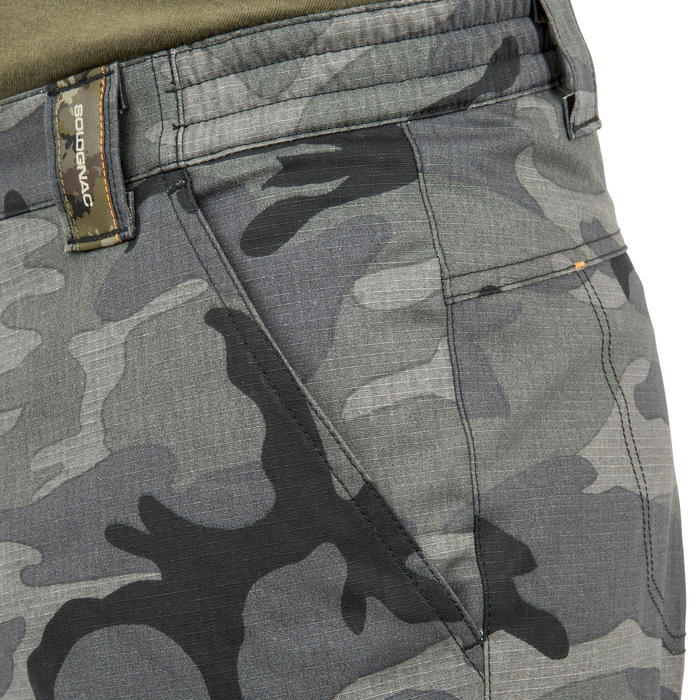 Bermuda chasse 500 camouflage woodland noir