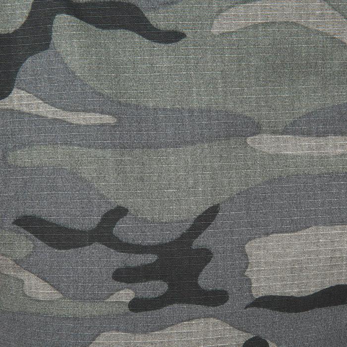 Bermudas de caza 500 camuflaje Woodland negro