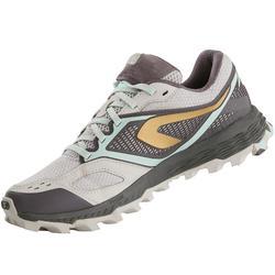 女款越野跑鞋XT7淡紫色與金色