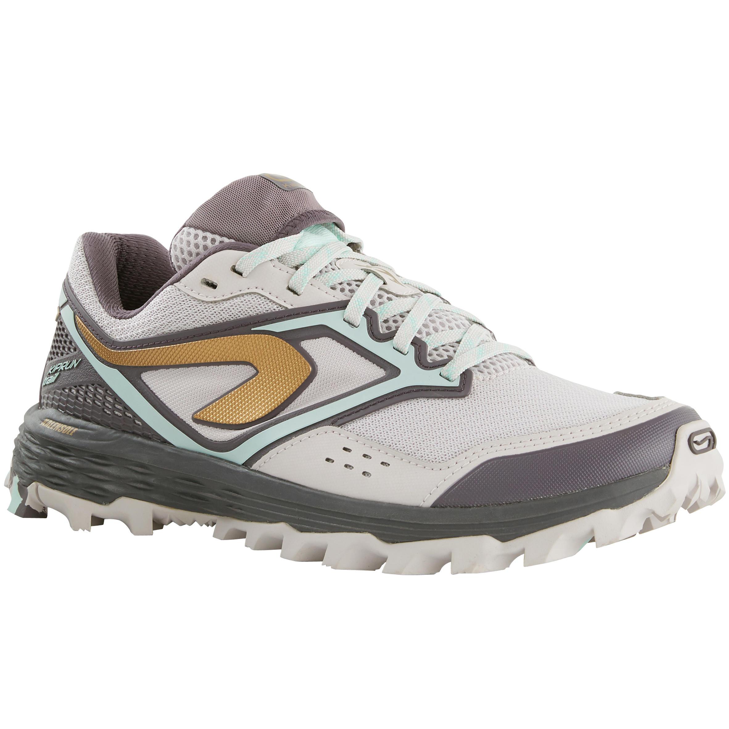 Kalenji Trailschoenen voor dames Kiprun Trail XT7 lila goud