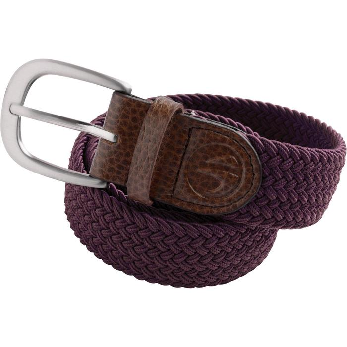 Cinturón de golf extensible adulto burdeos talla 2