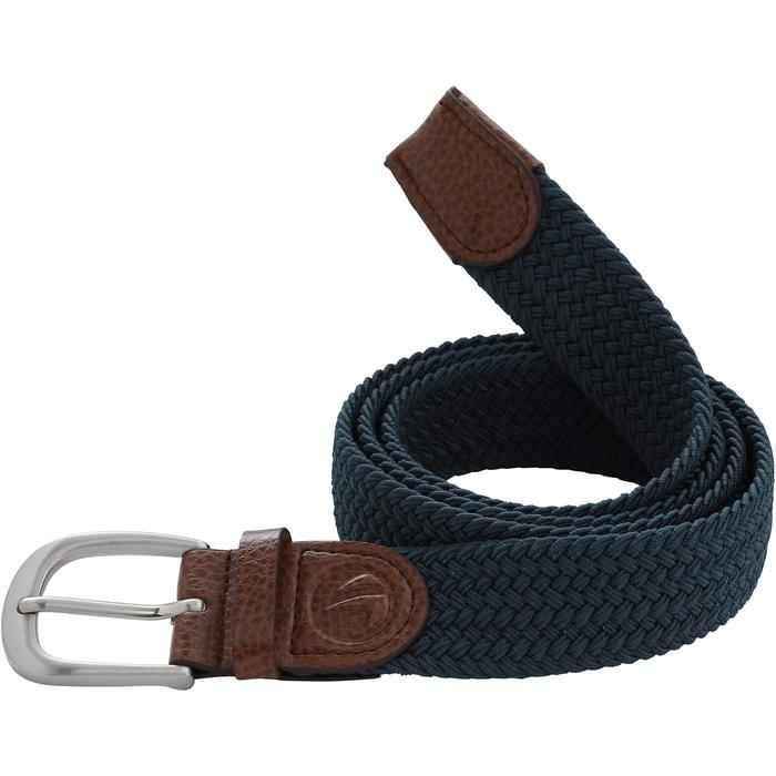 Dark petrol adult stretchy golf belt size 1