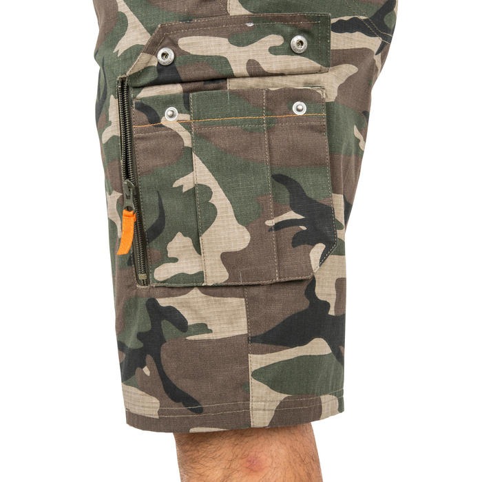 森林迷彩百慕達狩獵短褲500-綠色