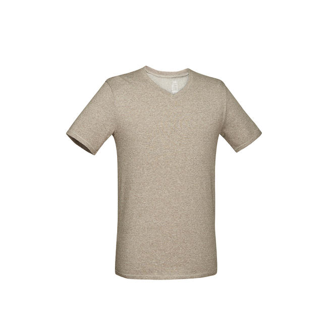 Men's Gym T-Shirt Slim Fit 500 - Mottled Brown