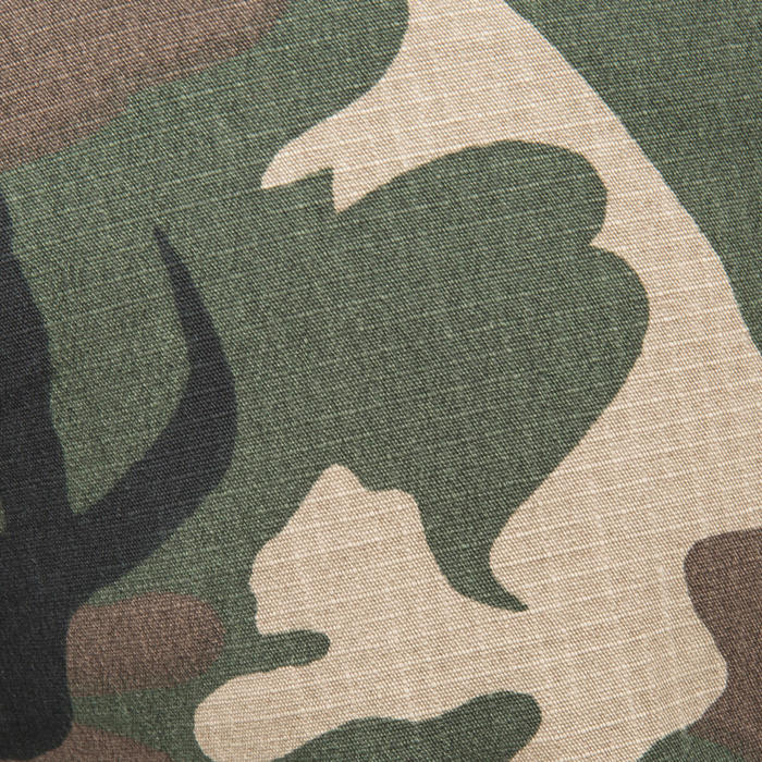 Jagersbermuda 500 woodland camouflage groen