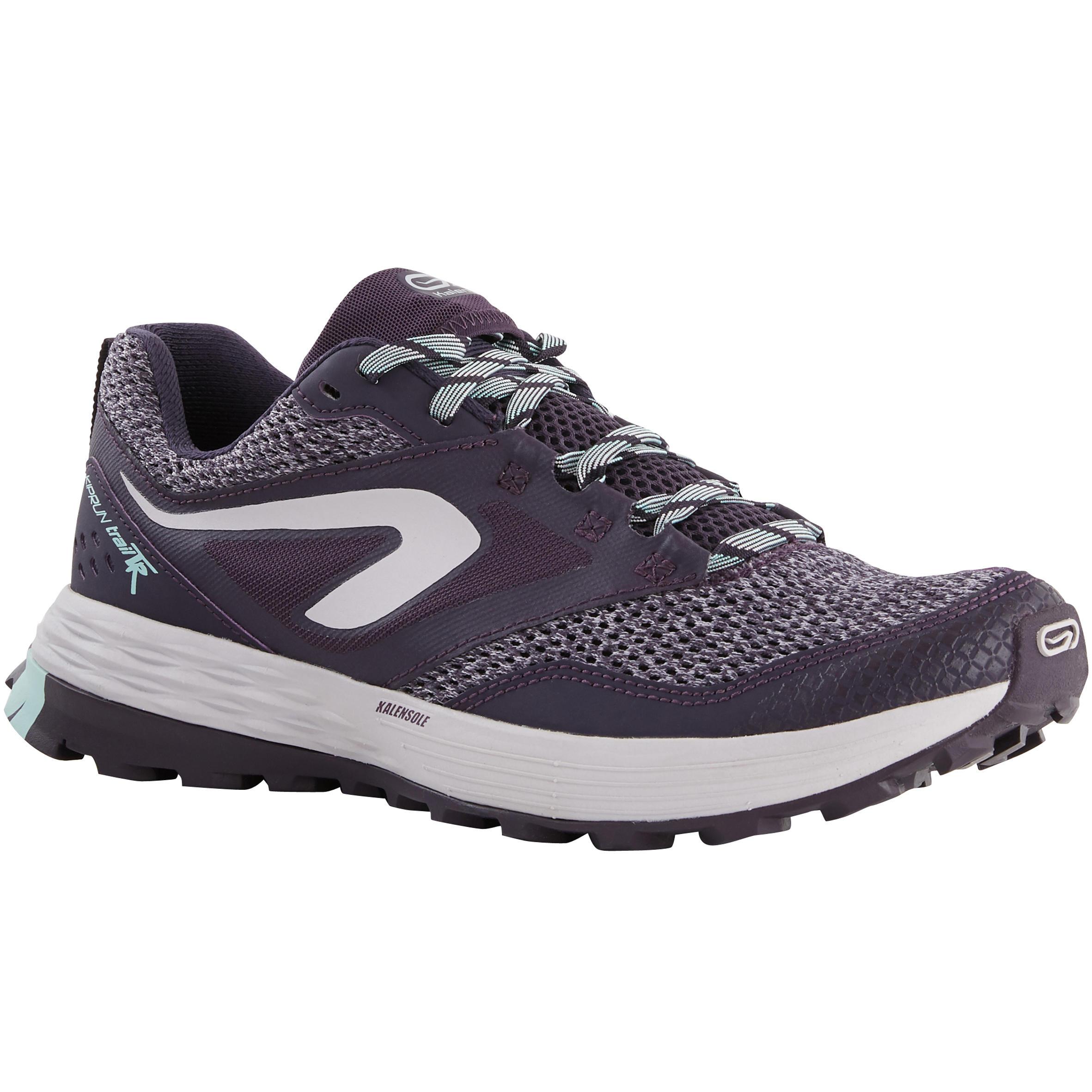 Kalenji Trailschoenen voor dames Kiprun MT paars/lila