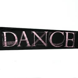 Pantalón de danza cintura y bajos elásticos niña negro