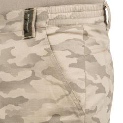 百慕達狩獵短褲500-半色調迷彩/土色