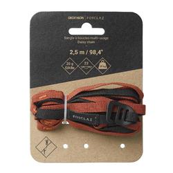 Bandschlinge Daisy Chain ultralight Trekking schwarz/orange