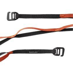 Daisy chain de trekking ultra légère et polyvalente noire orange