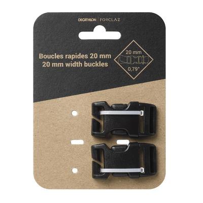 Комплект з 2 пряжок для рюкзаків, 20 мм